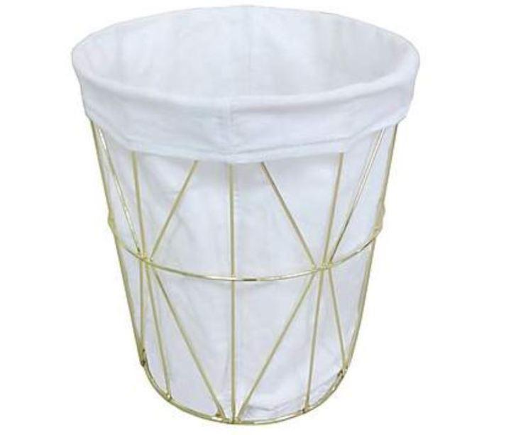 Dunelm gold basket bin