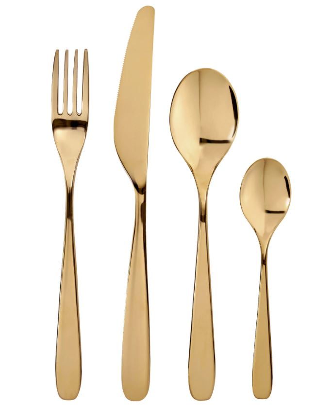Ikea 24 piece gold cutlery