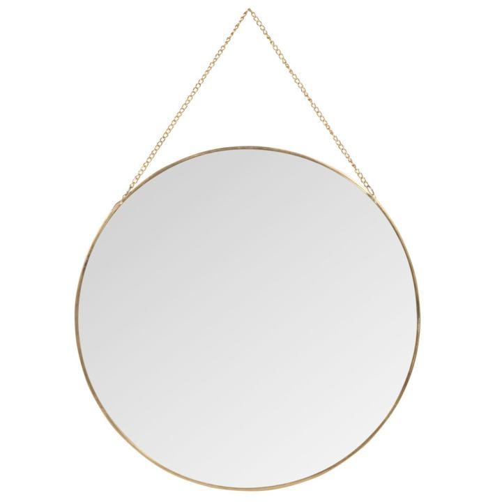 Maison Du Monde gold hanging mirror