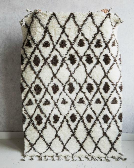 Rose and Grey Berber rug