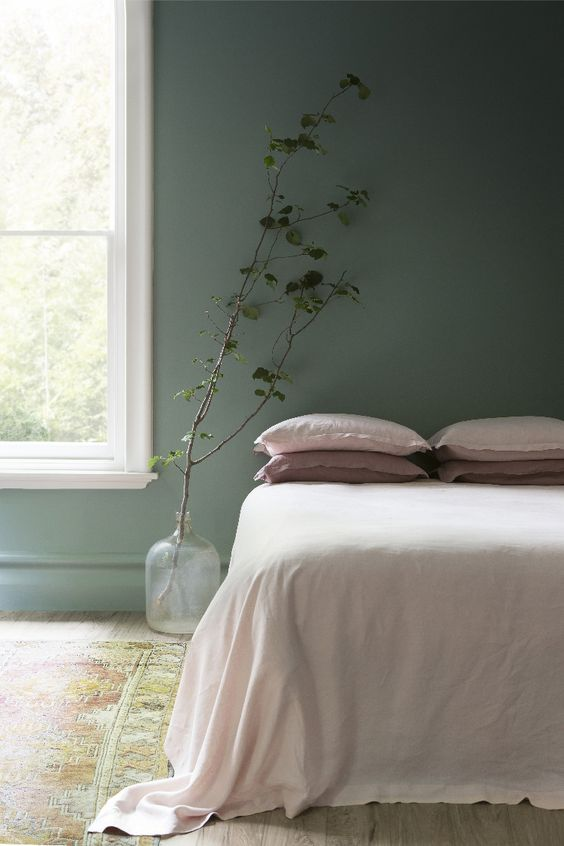 Sage Green bedroom- image from Pinterest by estliving.com