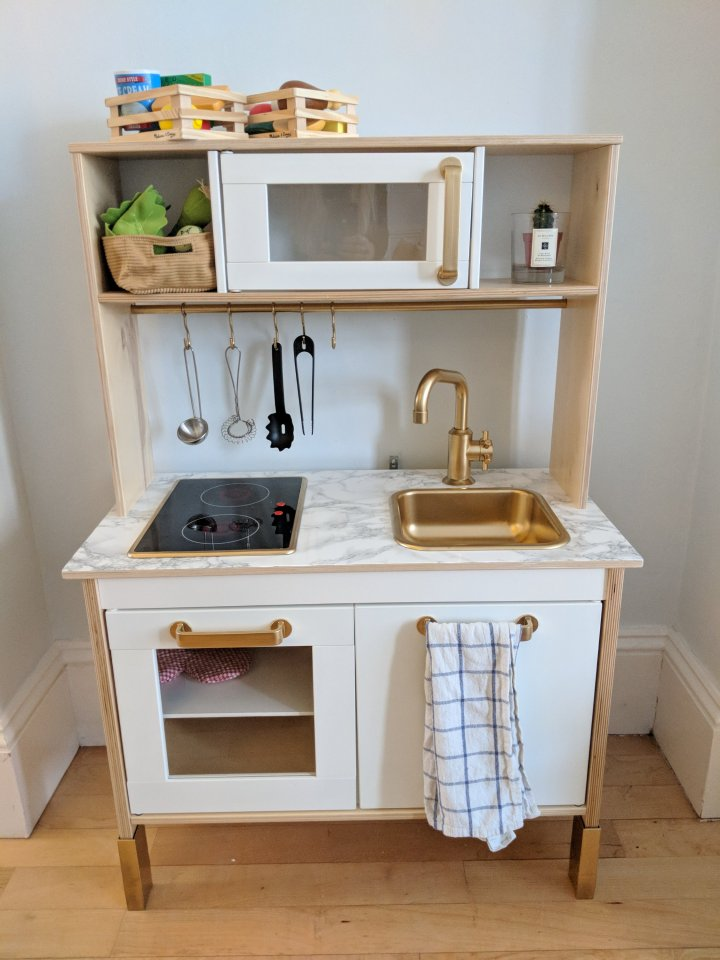 Ikea Duktig play kitchen hack