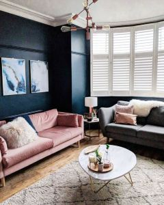 Velvet sofa lounge