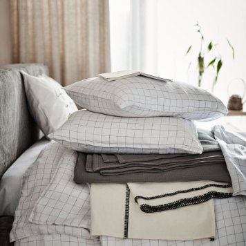 Thrifted Abode - h&m linen duvet set