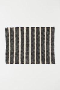 Thrifted Abode - h&m stripe bath mat