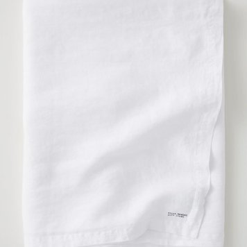 Thrifted Abode - h&m white linen tablecloth