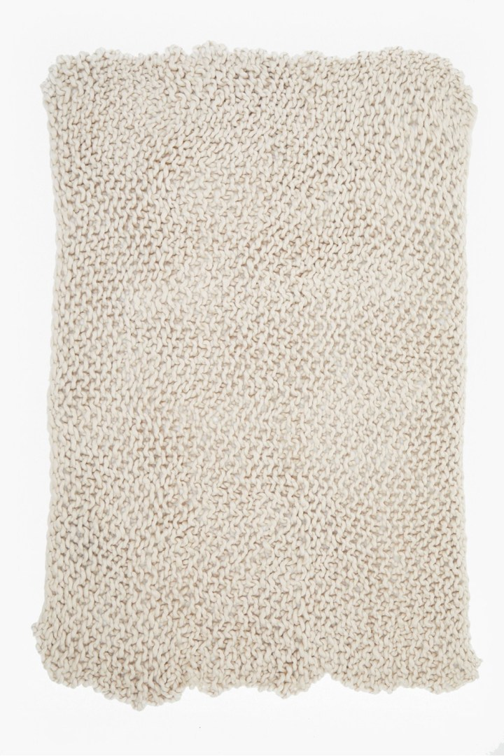 French connection knitted throw, £32