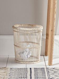 Cox and Cox rattan waste bin